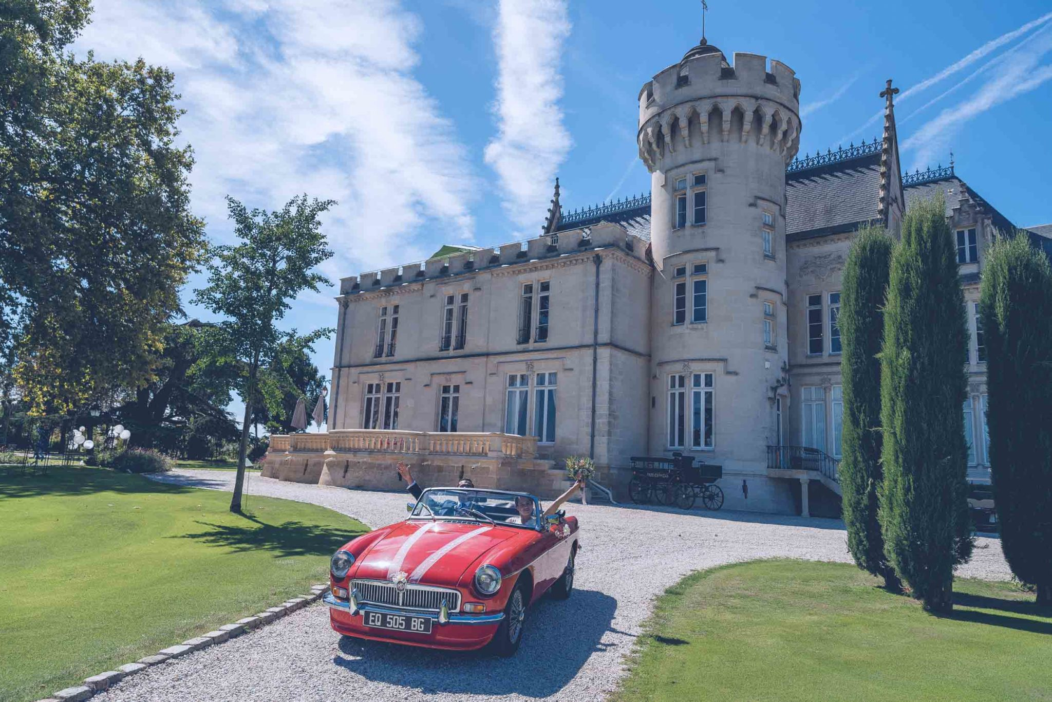 mariage chateau pape clement